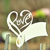 ColorMax Love Lot de 50marque-places découpés au laser pour mariage et fêtes Décoration