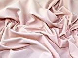 Combinaison de plongée Uni crêpe tissu Jersey Stretch Robe Nude-par mètre