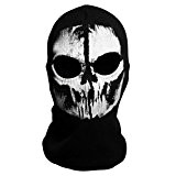 Coofit Tour de Cou Masque Cagoule Ghost Tete de Mort - Couleur Modern Warfare - Airsoft Paintball Moto Outdoor (Noir ...