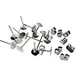 cooplay 100Plate en acier inoxydable Pad (avec 12mm Boucles d'oreille Post) trouver Plus 100fermoirs en métal boucles d'oreilles d'oreille Post ...