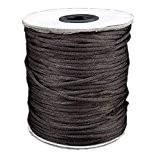 Corde 10M Noir Rattail 2mm. Kumihimo / Shamballa / Nouage/ Macramé / Corde Bracelet / Corde Pour Perles / Tressage ...