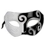 Costumi di carnevale e halloween Masque de carnaval pour femme, avec décorations, Noir et Blanc