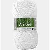 Coton à tricoter AMBRE 011 Blanc