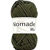Coton à tricoter NOMADE MIX 077 Vert kaki