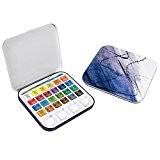 Daler-Rowney Boîte de peinture en étain Aquafine 24 couleurs