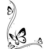 Darice 1218-107 Modèle Bordure Décorative Papillons Classeur de Gaufrage Plastique Transparent 10,8 x 14,6 x 0,3 cm