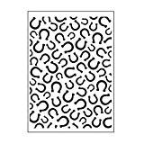 Darice 30008382 Modèle Fond avec Fers à Cheval Classeur de Gaufrage Plastique Transparent 10,8 x 14,6 x 0,3 cm