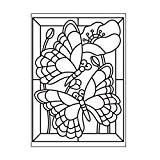 Darice 30008389 Modèle Mosaïque Papillon Classeur de Gaufrage Plastique Transparent 10,8 x 14,6 x 0,3 cm