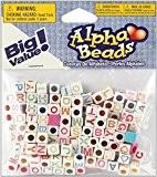 Darice Gabarit d'embossage 6mm Perles Alphabet, Lot de 160, multicolore