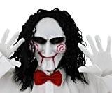 Déguisement du tueur au puzzle avec un masque + une perruque + un nœud papillon + une paire de gants ...