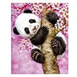 Diamant à broder au point de croix Tableau les animaux Panda Complet Carré Diamant mosaïque Kits 40* * * * ...