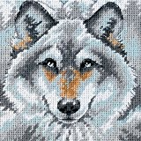 Dimensions Kit Canevas, L'Appel Du Loup
