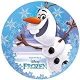 "Disque en sucre Olaf ""Reine des neiges"" Frozen 20 cm - Dekora"
