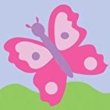 DMC Kit de tapisserie pour enfant Motif papillon Rose 15 x 15cm