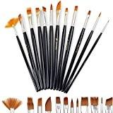 Doutop Brosse de Peinture Pinceaux Peinture Artiste professionnel multifonctions Nylon cheveux Peinture Pinceaux pour Peinture acrylique gouache Huile Aquarelle 12