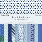 Dovecraft Back to Basics Blue Skies Pad Papier 8x8, Multicolore