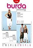 Easy Patron de couture Burda 7546 sarouel femme-Tailles :  XS à XL