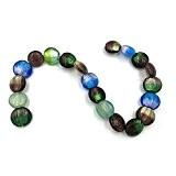 Ecloud Shop® 1X Enfilade Perles en Verre Murano Lampwork Rond 20mm