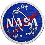 Écusson brodé Ecussons Thermocollants Broderie Sur Vetement Ecusson ,,NASA Meatball 7,5cm ,, nasa