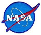 Ecusson brodé Ecussons Thermocollants NASA Bleu clair