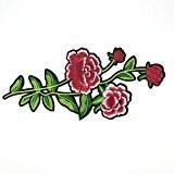 Ecusson Brodé Patch Appliqué Broderie Dentelle Fleur pour Couture Vêtement Sac Diy - 5, 15.7inch x 7.9inch