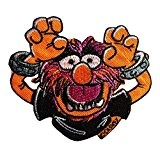Ecusson - The Muppets Animal Disney Comic enfants - orange - 8,6x7,3cm - patches brode appliques embroidery thermocollant