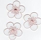 Ecusson thermocollant 3 Petites Fleurs Coloris Blanc