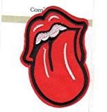 Ecusson thermocollant Bouche Langue Rouge