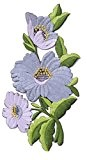 """ecusson thermocollant patch badge brode thermocollant appliqué ecusson fleur thermocollant """" fleur 14 cm """""""
