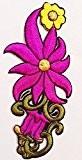 """ecusson thermocollant patch badge brode thermocollant patch badge appliqué ecusson fleur thermocollant """" fleur 4 x 10 cm """""""