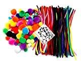 EduKit Jumbo Kit Crafting 500 Pièces pour les enfants | Grand assortiment de Fils Chenille, Pompons et Yeux Mobiles de ...