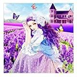 Eizur 5D Main en motif Belle Fille Lavande Diamant Peinture Point De Croix Broderie Diamond Painting Kits rond mosaïque Salon ...