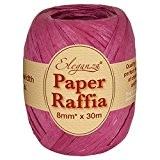 Eleganza 8 mm x 30 m de ruban en raphia Papier pour de nombreux projets manuels, et emballage cadeau Bordeaux ...