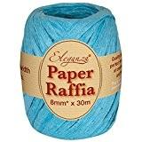 Eleganza 8 mm x 30 m de ruban en raphia Papier pour de nombreux projets manuels et emballage cadeau, 55 ...