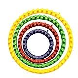 Ensemble de 4 tricotins colorés ronds, inclus les tailles 14cm (5.5