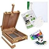 """Ensemble pour peinture - Malette/Chevalet """"Edinburgh"""" - Daler Rowney - 12 tubes de peinture acrylique inclus"""