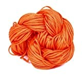 EOZY 1mm 27m Queue Satin Cordes Tissées En Nylon Noeud Chinois Bijoux Orange