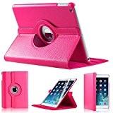 Étui de protection en cuir synthétique rotatif à 360° pour Apple iPad Mini (Rose foncé)