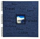Exacompta 16818E Momento Album Photos à Spirales 60 Pages Carton/Papier Bleu Marine 32,5 x 32,2 x 2,8 cm
