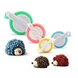 Fabriquer des Pompons,PALADY 4 Tailles de Pompom Maker Pour les enfants Bricolage Artisanat Craft Tool Fluff Ball Weaver Maker
