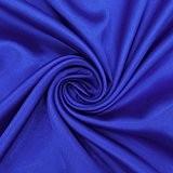 Faux Satin Tissu En Soie Solide Bleu Brillant Couture Tissus Couture By The Metre