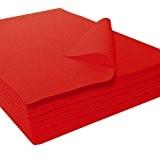 Feutrine précoupée acrylique, rouge, env. 22 x 30 cm - 25 pièces