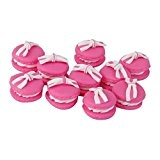 Fimo Lot 10pcs Macaron Noeud Bijoux DIY Perle Charms Collection Peach