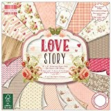 """First Edition Pad Papier 8""""x8"""" Love Story"""
