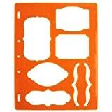 Fiskars 5374S Gabarit de Découpe Etiquettes et Accolades Orange