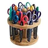 Fiskars 9299P Set de 15 Ciseaux à Cranteur Présentoir Bois Multicolore