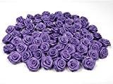fleurs en satin 1.5 cm de diametre sachet de 20 fleurs a coudre ou a coller mariage deco scrapbooking (mauve ...