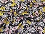 Floral Viscose stretch Jersey Knit Robe Tissu Multicolore-au mètre