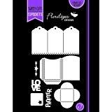 Florilèges Design FDD21410 Outil de Découpe pour Scarpbooking Mini Pochette Vague Noir 22 x 12,5 x 0,2 cm