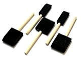 Foam Brush Sponge Wooden Handle Paint Craft Glass Glitter Glue Application 5 Pcs by Sifcon